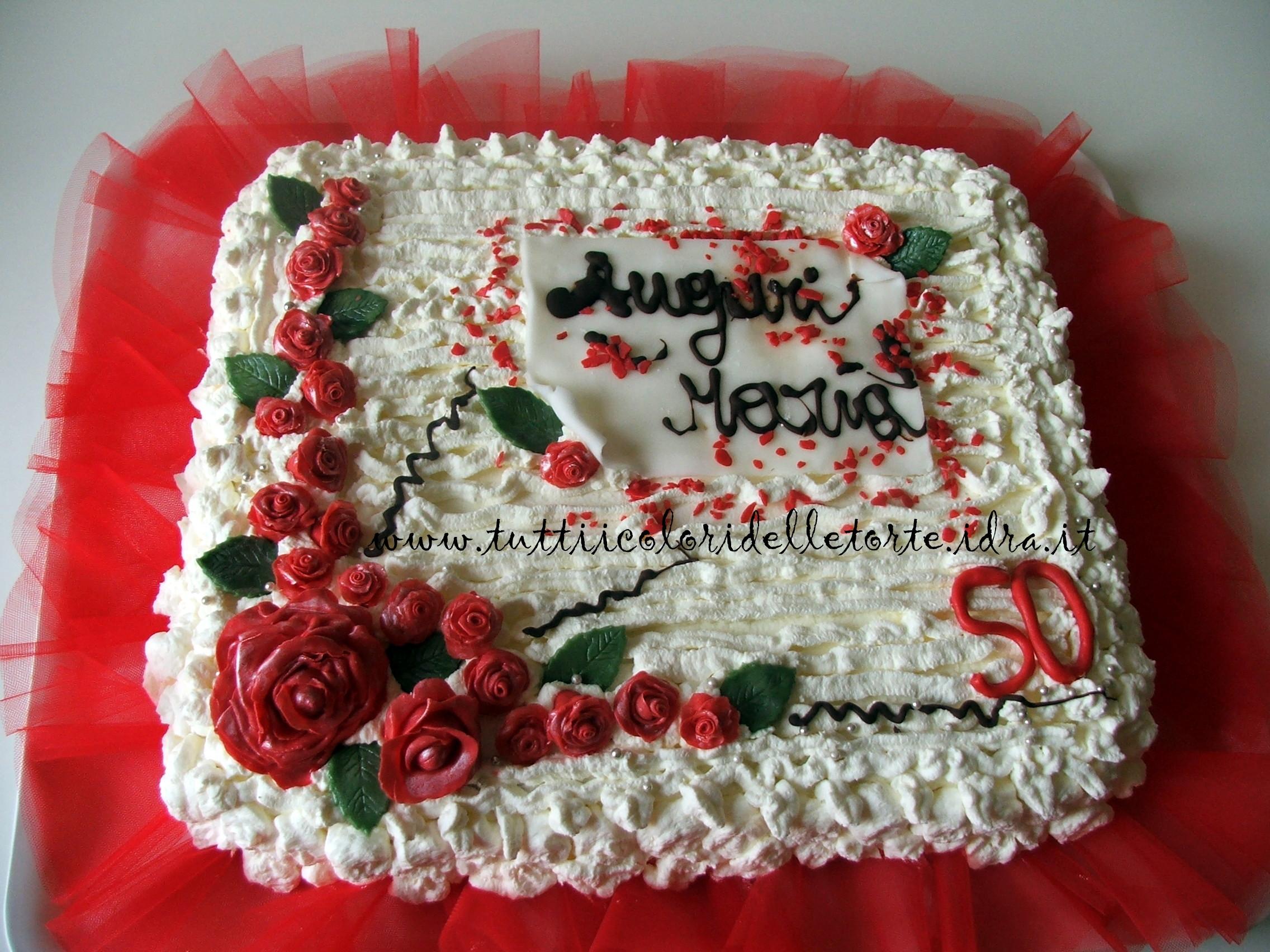 Eccezionale Torta 50 anni - Tutti i Colori delle Torte Tutti i Colori delle Torte DK23