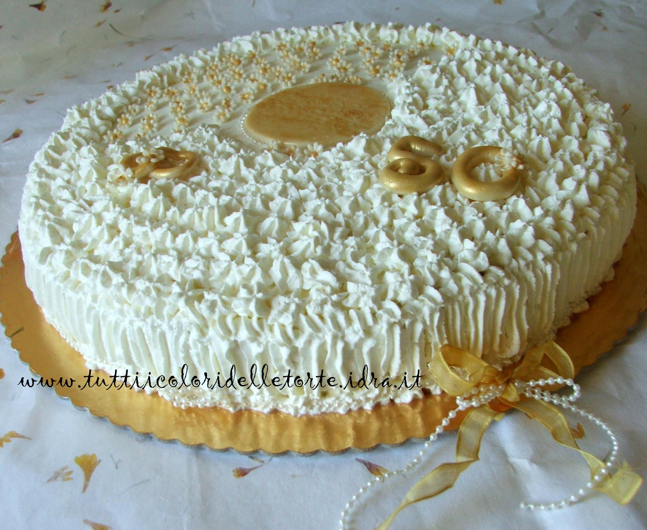 Torta classica con maltitolo tutti i colori delle torte for Decorazioni torte per 60 anni di matrimonio